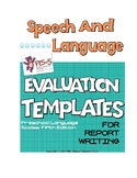 Speech Language Evaluation Templates- Preschool Language Scales- Fifth Edition