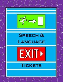 Speech-Language Exit Slips