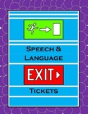Speech-Language Exit Slips