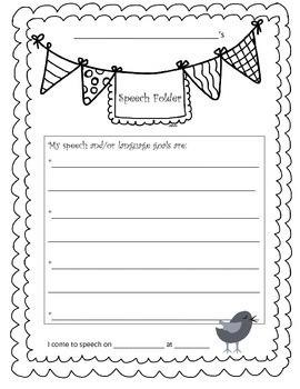 Speech-Language Folder Cover