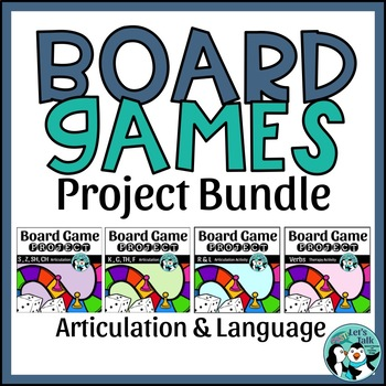 Speech & Language Game Board Project Bundle