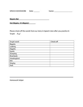 Speech Language Halloween Homework Bundle