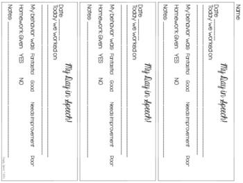 Speech & Language Homework Folder Printables {FREE!}
