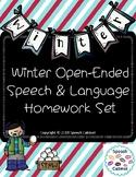 Speech & Language Homework Sheets (Winter)