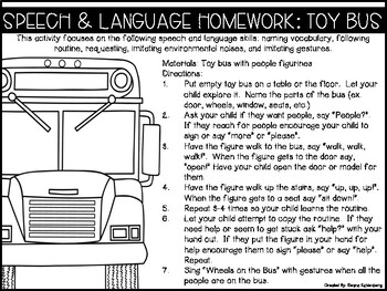 Speech & Language Homework {Toddler Toys}