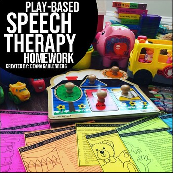 Speech & Language Homework {Toddler Toys}