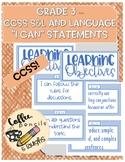 Speech & Language, Language - Grade 3 - CCSS I CAN Statements / Objectives