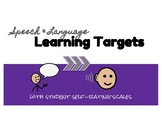 Speech & Language Learning Targets with Rating Scales