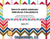Speech Language Milestone Cheatsheet