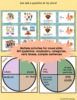 TH Articulation & Language Games: 70 Picture Cards & WH Questions