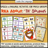 Speech Language Therapy   Mixed Groups   Picture Activities   TH Sounds