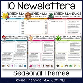 Speech & Language Monthly Newsletter for Parents by Rosie ...