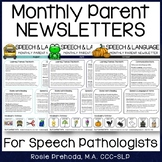 Speech & Language Monthly Newsletter for Parents