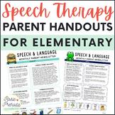 Speech & Language Monthly Parent Newsletter