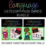 Speech Language: Name That Category & What Doesn't Belong Task Cards BUNDLE