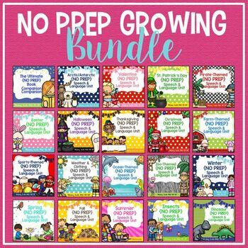 Speech & Language {No Prep} Growing Bundle