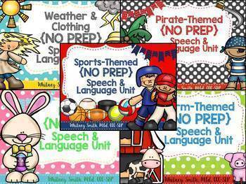 Speech & Language {No Prep} Growing Bundle #jan2018SLPmusthave