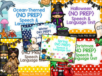 Speech & Language {No Prep} Growing Bundle #feb2018SLPmusthave