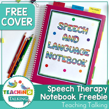 Speech & Language Notebooks Cover Freebie
