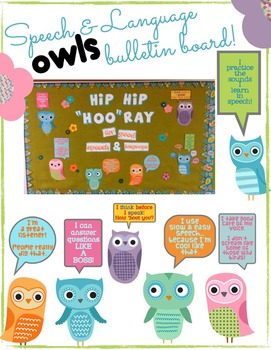 Bulletin Board & Signs for Speech and Language: Owl style!