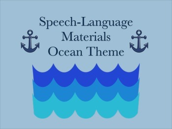 Speech-Language Ocean/Swimmy Theme Pack