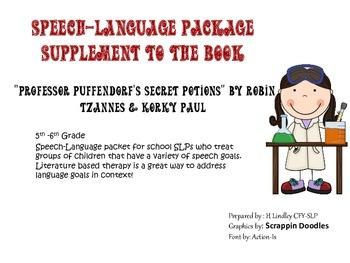 "Speech-Language Packet using the book, ""Professor Puffendorf's Secret Potions"""