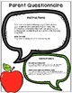 Speech & Language Parent Questionnaire