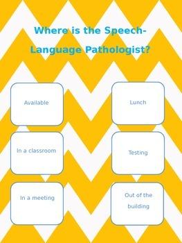 Speech-Language Pathologist Door Sign