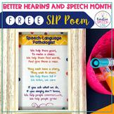 Speech-Language Pathologist Inspirational Poem Freebie (fits in 4X6 frame!)