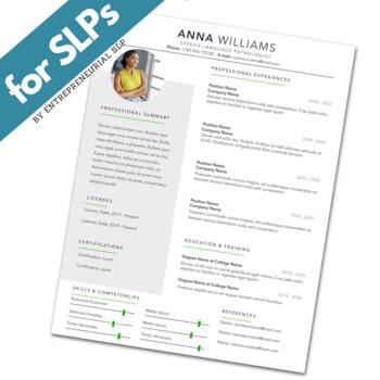Speech-Language Pathologist (SLP) Resume Template (w/ Photo) - Apple Pages