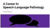 Speech Language Pathology Career Day Presentation