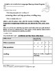 Speech-Language Pathology Home Program Worksheets