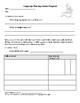 Speech-Language Pathology Home Program Worksheets