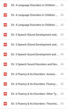 Speech-Language Pathology Praxis Study Set (1 of 2)