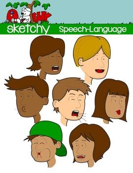 Speech Language Pathology Therapy Clipart Graphics