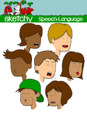 Speech Language Pathology Therapy Clipart Graphics