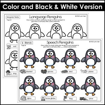 Speech & Language Penguin Activity