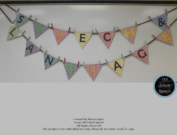 Speech & Language Pennant Banner: Dots