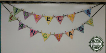 Speech & Language Pennant Banner: Chevron
