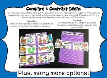 Speech & Language Pockets - Compare & Contrast Edition
