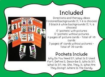 Speech & Language Pockets - Halloween Edition