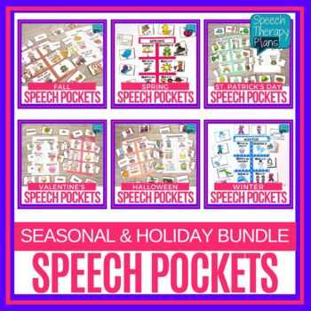 Speech & Language Pockets - Seasonal Bundle
