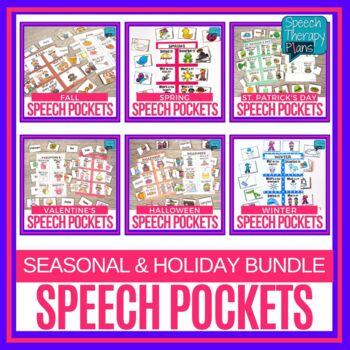 Speech & Language Pockets - Seasonal Bundle