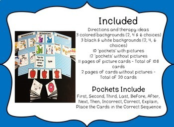 Speech & Language Pockets - Sequencing Edition