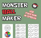 Speech & Language Poke'ball Maker