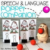 Speech & Language Popper Companion: Hedgehog