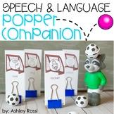 Speech & Language Popper Companion: Raccoon Soccer Player