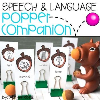 Speech & Language Popper Companion: SQUIRREL