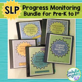 Speech-Language Progress Monitoring Tool Bundle for Pre-K to 1st Grade