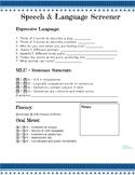 Speech & Language Quick Screener
